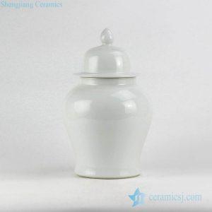 RYNQ221 wholesale price white glossy simple style restaurant decor ceramic jar