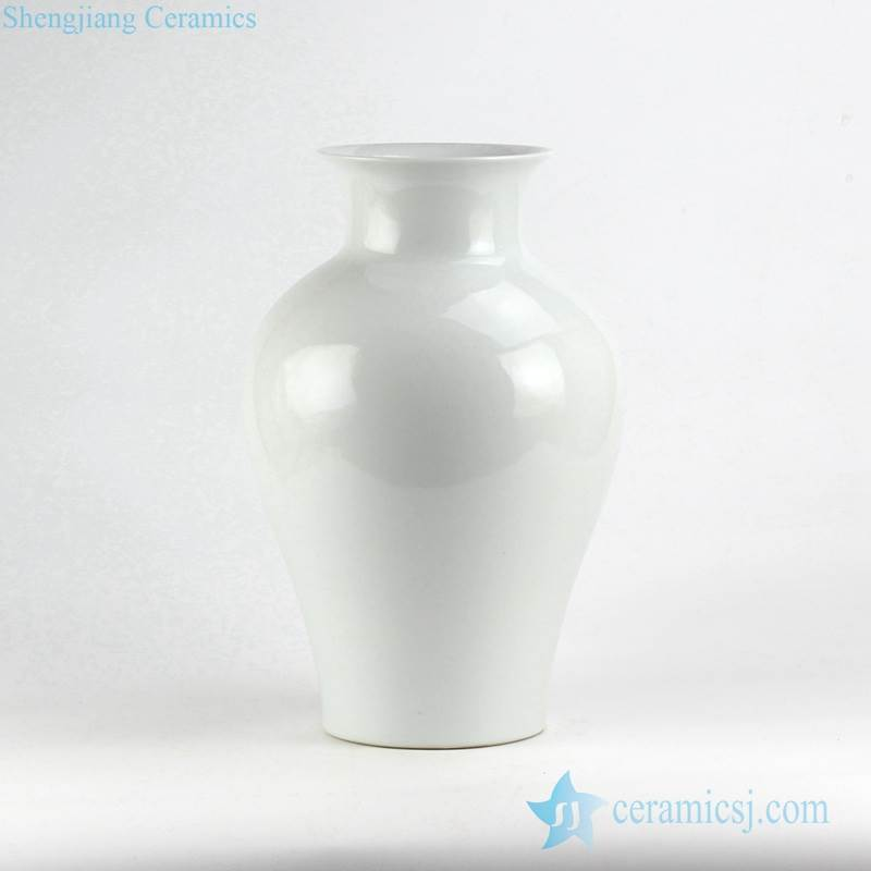white glaze hotel decor simple style ceramic vase