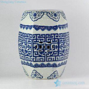 RYVM20 Delft cobalt blue China chic hand drawing ceramic bathroom seat