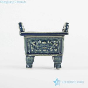 RYXP34-B Small Chinese ancient cooking vessel with loop handles and four legs design ceramic quadripod