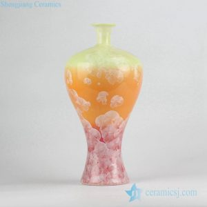 RZCU16 transmutation glaze flake crackle porcelain flower vase