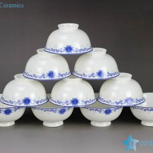 RZHY02-J Floral pattern blue and white export ceramic dinner bowl