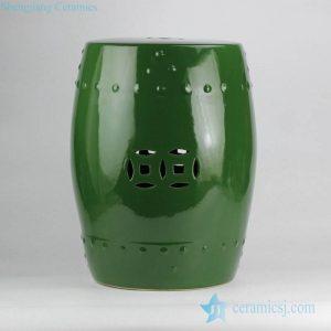 RZKL03-F Jungle green plain color porcelain lounge bar chair
