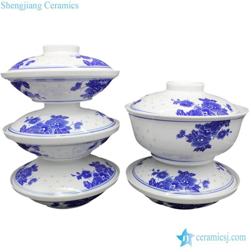 floral porcelain tureen