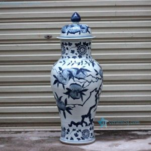 RYWY09-new Hand paint China longevity peach pattern porcelain temple jar