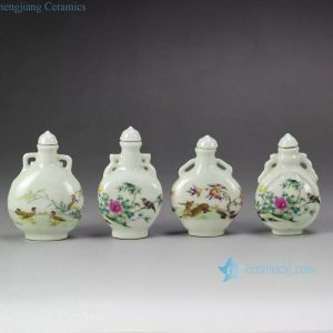 RYXP33 Forest animals pattern ancient China Qing Dynasty royal cute small ceramic jar