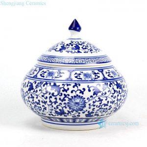 RZBG10 Plump shape hand paint floral pattern porcelain tea jar