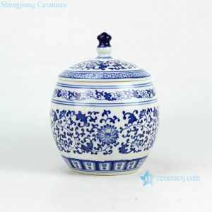 RZBG11 Floral design hand paint JDZ china small jar