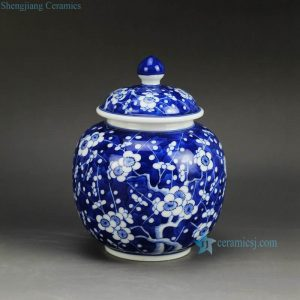 RZDI04 Small size winter sweet hand paint JDZ China Qing dynasty porcelain honey jar