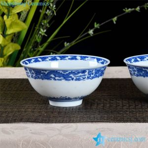 RZHX01-C China dragon pattern vanity royal style porcelain dinning room bowl