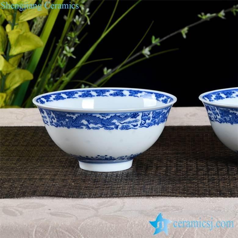 China dragon pattern vanity royal style porcelain dinning room bowl