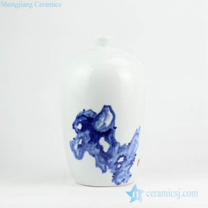 RYNQ235 Blue and white Asian ink painting crockery porcelain jar