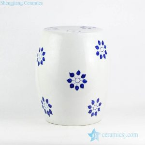 RYNQ237 Corn flower pattern wholesale price hand drawing ceramic leisure stool