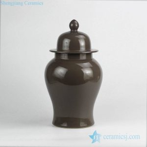 RYNQ240 Grey plain color interior design ceramic ginger jar