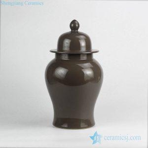 RYNQ240 Grey plain color interior design ceramic ginger jar