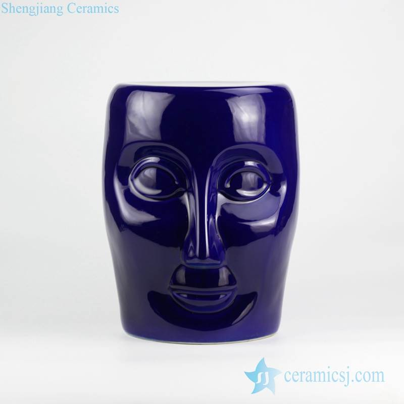 RYNQ55-C/D/F Solid color human face design ceramic art stool