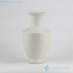 RYUJ19-D Unglazed speckle clay style white pottery flower vase