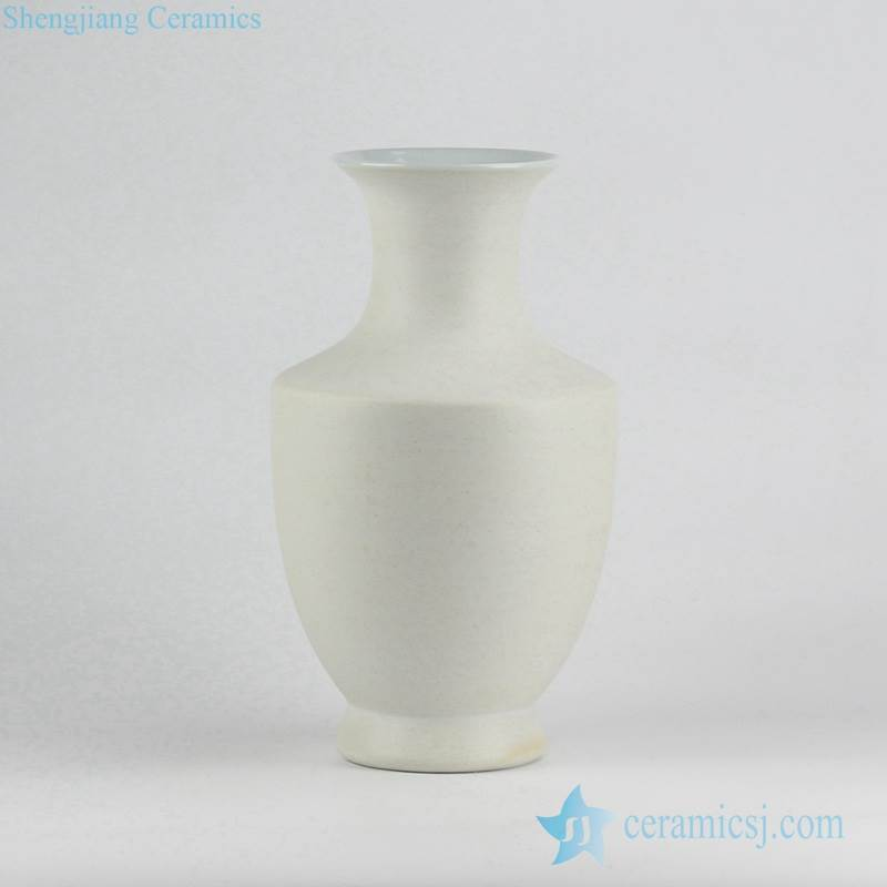 Unglazed speckle clay style white pottery flower vase