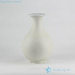 RYUJ19-G White pottery pear shape vase