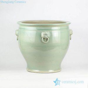 RZFH10-C/D/E Large measurement plain color glossy surface porcelain vat