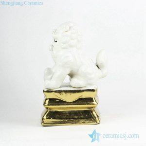 RZGA01-H Golden base door gate lion porcelain figurine