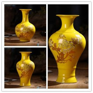 RZIF01-C26-D/E/H Imperial yellow dynasty heritage low price floral ceramic vase