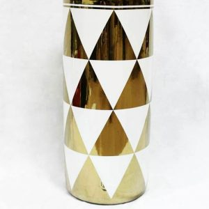 RZKA171038 Gold electroplate triangle pattern new arrival porcelain home decor umbrella stand