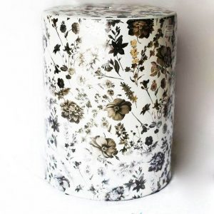 RZKA171301 Dried flower pattern vintage round porcelain stool