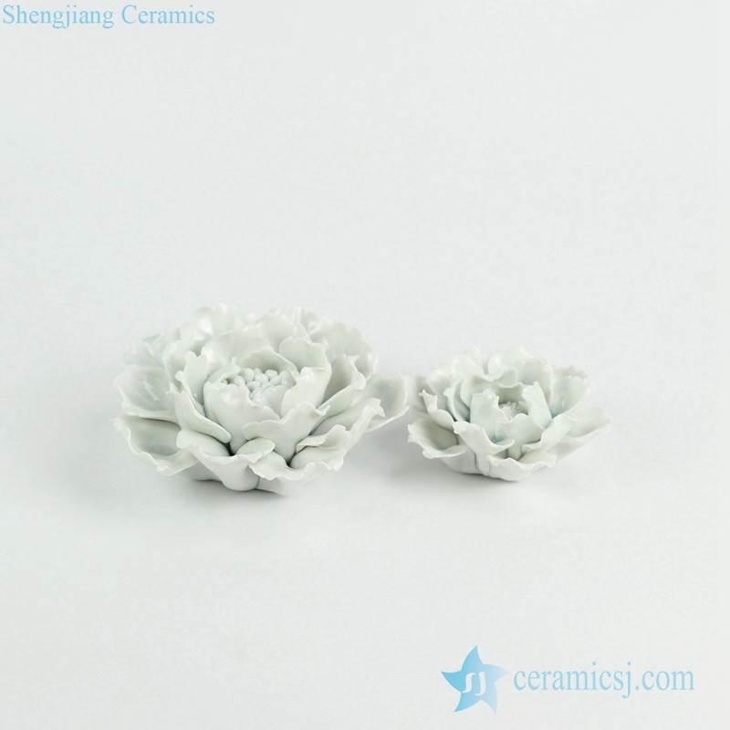 Hand build white porcelain flower sculpture
