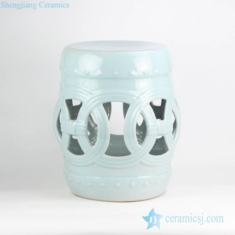 Indian ring inspiration mint plain color porcelain stool