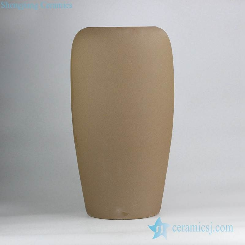 Crude speckle clay pottery artificial flower vase