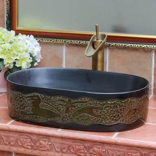 oval ceramic basin