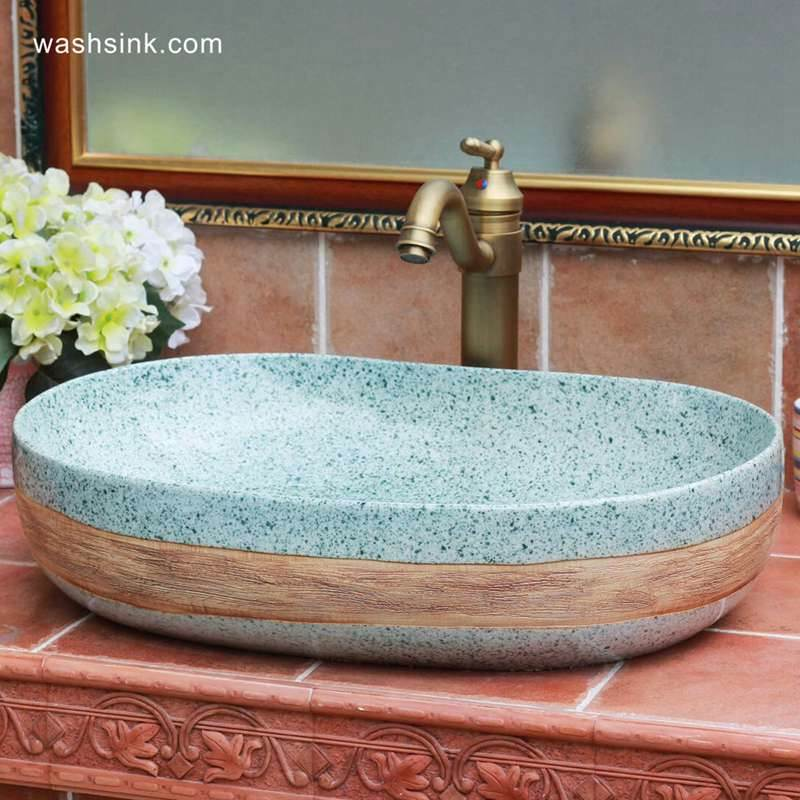 Green cobble imitation oval big laundry sink