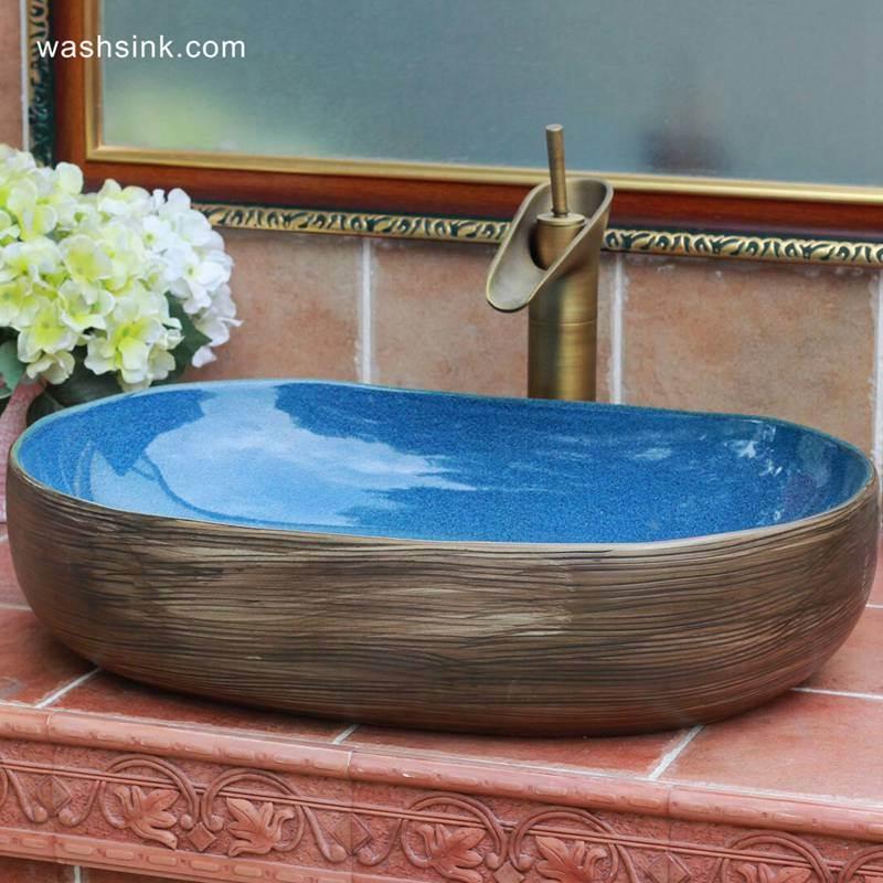 Jingdezhen factory outlet simple style porcelain lavatory basin