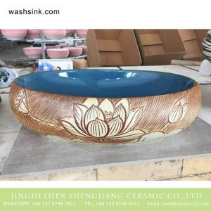 TPAA-164 Shengjiang factory direct online sale beautiful home decor Jingdezhen ceramic art basin