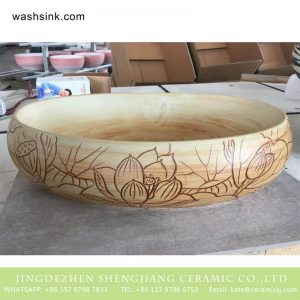 TPAA-165 Made in China high quality interior fitment carved lotus pottery sanitary ware