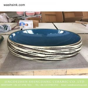 TPAA-174 Bulk sale good price Chinese freehand brush work design porcelain hotel independent hung wash basin