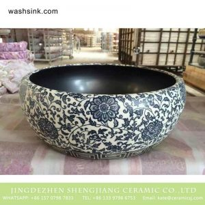 TPAA-202 Refurbished home decor blue and white floral Jingdezhen ceramic art basin