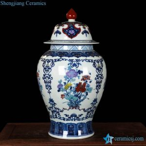 RZLG01 Exquisite hand drawing blue and white porcelain ginger jar