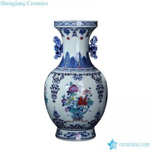 RZLG07 Jingdezhen factory wholesale price hand paint blue and white bouquet ceramic vase