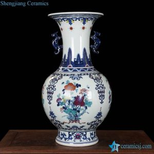 RZLG08 High quality China style hand paint colorful banquet pattern ceramic exhibition vase