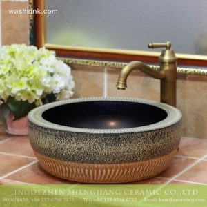 TPAA-205 Asian online sale marble style thick ceramic bathroom vanity sets