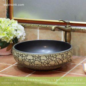 TPAA-207 Jingdezhen Shengjiang round art ceramic bathroom sinks and cabinets