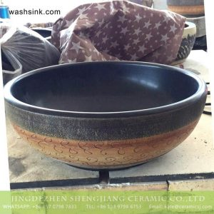 TPAA-216 Jingdezhen wholesale local artisan made old fashioned pottery wash bowl