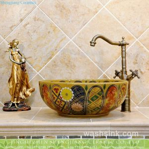 TXT05B-3 Nippon royal style antique ceramic wash basin set
