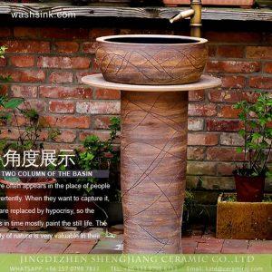 XHTC-L-3008 China produce hotel decoration hand draw waving line ceramic bathroom vanity top