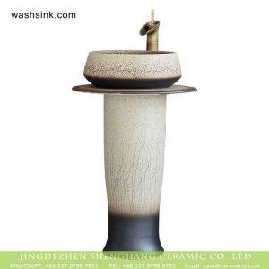 XHTC-L-3011 Jingdezhen Jiangxi unique hand craving grass pattern ceramic home washing basin