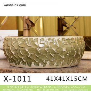 XHTC-X-1011-2 Hot Sales special design irregular shape sink antique ceramic wash basin