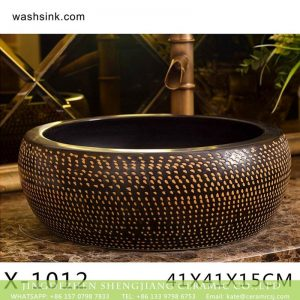 XHTC-X-1012-3 Jingdezhen wholesale brown bottom with yellow point art ceramic sanitary ware