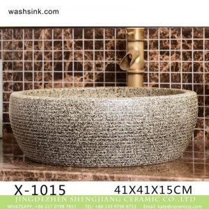 XHTC-X-1015-1 Chinese morden new style hand carved imitating marble ceramic wash basin